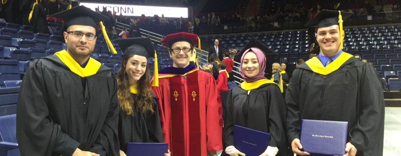 MCB PSM graduates with Dr. Joerg Graf, Professor, MCB.